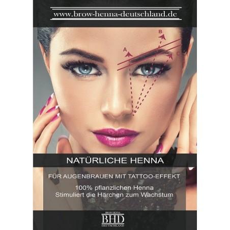 Brow Henna Poster