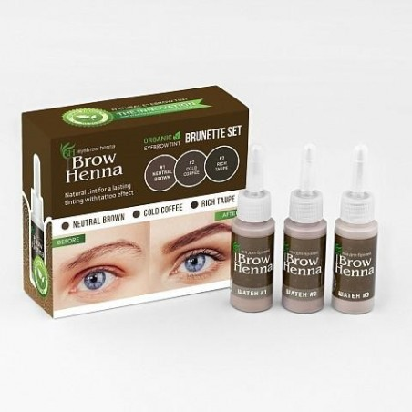 3 Brow Henna Farben - Braun