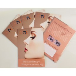 100 Flyer für Lashlifting