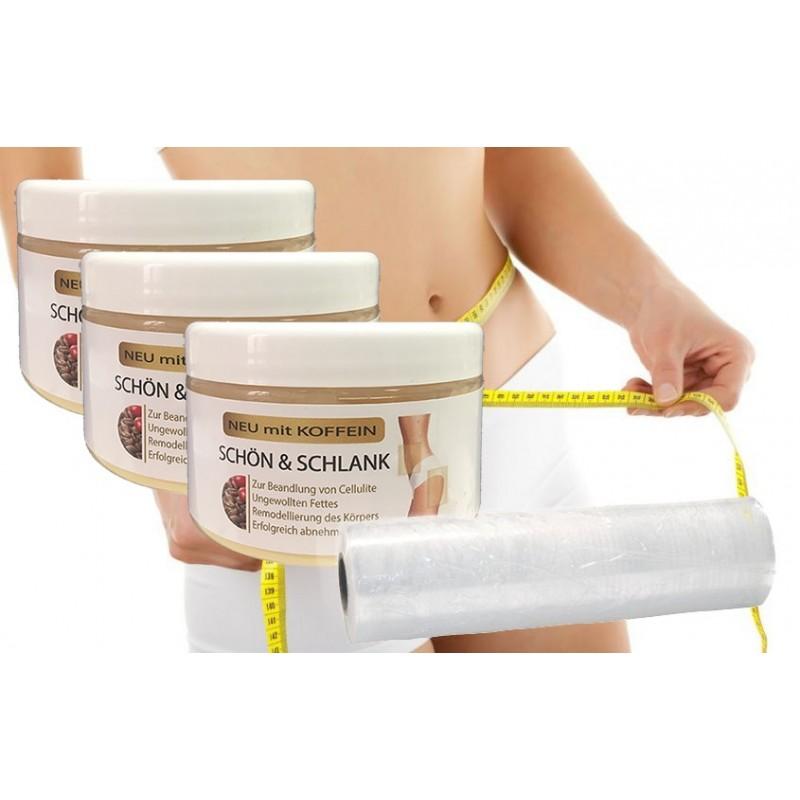 Body Wrapping Folie + 3x Anti-Cellulite Creme im Set